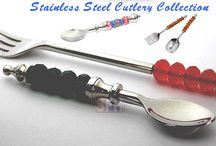 Stainless Steel Cutlery / We are the top quality manufacturer of stainless steel cutlery,salad servers,bottle opener,beadable cake knife,cake stand,cheese knife,butter knife,cake lifter and many more . We manufacture products as per our clients need and requirements.All our products are made to order. We do not keep ready stock.Competitive wholesale prices ! Excellent quality.  WHOLESALE TRADE ONLY !