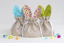 Sewing / Bunny drawstring bag
