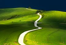 Beautiful Czech and Moravian fields and meadows