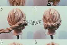 Hairstyles - low buns