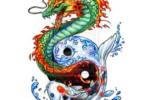 Koi Fish Dragon