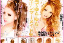 Gyaru Hair style
