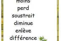 Vocabulaire pour maths