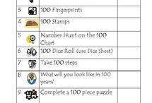 100  Day  School activities
