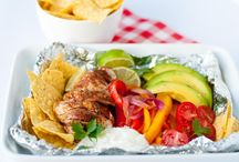 Chicken fajitas foil packs