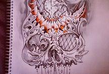 tattoo plan / photoshop montage fantasy