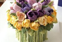 kwiatowy tort