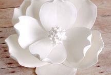 Gumpaste Magnolia / A variety of Gumpaste Magnolia Sugarflower cake decorations.  These are some of my favorite flowers to decorate a fondant cake with. / by CaljavaOnline.com