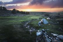 Camping By Bike - Bike Packing / Bike touring and back country bike packing pictures, guides and info.  Trails, destinations, trip ideas.
