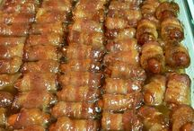 Christmas  bacon wrapped  goodies