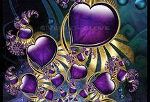 GOLD & purple. ..