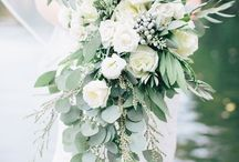 Cascading wedding bouquets / Cascading Bridal Bouquets that are large and flow down to the floor.