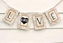 Дата свадьбы - гирлянды