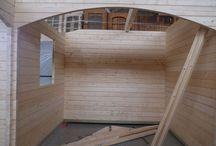 Blockhaus 8500x8000x60 mm / Vormontage Blockhaus 8500x8000x60 mm aus nordische Fichte