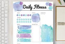 Printable Fitness Planners / Printable Fitness Planners