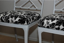 redo,reuse,recycle / epicycle, upholster, before and after, tutorial, slip covers, transformation, diy, makeover, dollar store, spray paint, furniture, don't throw the old out!  / by Tiffany McNett Fisher