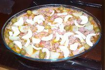 recetas saladas (ensaladas, pasteles salados y platos frios) / by maria carmen lopez perez
