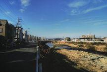 朝帰りというか昼帰りの帰り道。冬晴れが気持ち良かったです。 today's sky #landscape #river #fineday #冬晴れ #今日の空 #帰り道写真