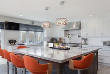Kitchen Renovation Temecula / This absolutely stunning kitchen expansion we designed and built in Temecula, CA has so many amazing features including two different colored cabinets, two different quartz, wolf appliances, a Sub Zero refrigerator, and so much more!!