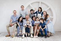 Большая семья, позы.