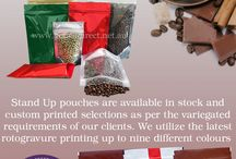 Stand Up Coffee Bags With Zip & Valve