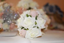 Flowers by the fabulous Katherines Designs. / Flowers by the fabulous Katherines Designs who are part of the Event 167 team. All designs are made using either colourfast poly foam or silk flowers.