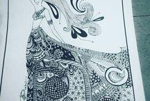 mine / I draw when I am happy, I draw when I am sad, I draw when I am bored! So in short,,,I love drawing!!