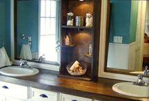 Bathroom remodel / by Amy Holthouser