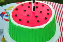 "Things on my ""to bake"" list / Yummy cake for a child who loves watermelon in all forms!"