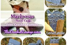 crochet remate botas(mariposas)