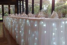 buffet table dressing