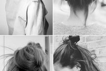 H A I R / Ideas and looks of how to style your hair.