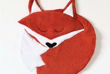 Gaspard le renard #LILIBOU / Créations pour les bébés autour du renard  Illustrations, Textile, Décoration