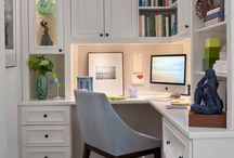 Organized Workplace  / Office, man space, tool and wood space, and an eye to organized use of smart space.