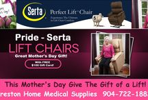Power Lift Chair Recliners / A Pride Serta power lift chair recliner is a modern, state-of-the-art in-home easy chair that gradually and safely lifts a mobility impaired person to a standing position or gradually lowers him or her into a sitting position.  Power Lift Chairs add mobility and Quality of Life! Preston Home Medical Supplies 6022 Atlantic Blvd. Jacksonville Florida 32211 904-722-1882 http://prestonpharmacyjax.com https://www.facebook.com/PrestonPharmacyJax https://www.youtube.com/user/PrestonHomeMedical