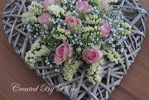 bloemschikken / creaties met bloemen...zijde of échte bloemen
