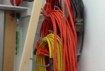 Extension power cord rack