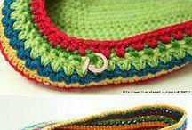 zapatilla a crochet