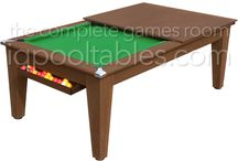Pool Dining Tables / This type of table will enable you to maximise the space in your room. Simply utilise the removable table top to alternate between a pool table and a dining table.