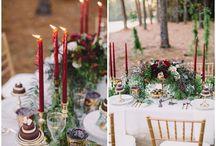 эксентрическая свадьба . цвет бордо
