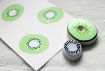 DIY wrapping paper/painting/rubber stamps