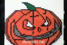 HAMA og broderi mm. Hallowen