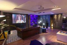 Casa Design 2013 - Lounge de Festas  / Projeto de automação de iluminação, climatização, som ambiente, vídeo-projeção, Home Theater e controles múltiplos!