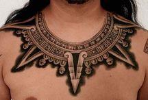 Aztec Tattoos / http://fabulousdesign.net/aztec-tattoos/