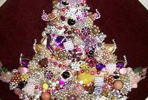 Jeweled Christmas Trees