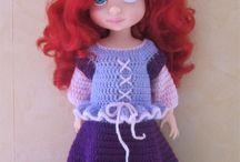 Poupées Disney Animator / Mes créations au crochet pour les poupées Disney Animator : Patrons et tenues disponibles dans ma boutique