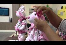 videos bonecas e feltros