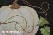 Acrylic paintings Fall
