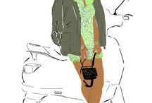 fashion illustration Black girls