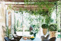 Terrasser og pergola